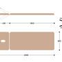Размеры массажной кушетки с электроприводом EH2