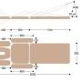 Размеры массажной кушетки с электроприводом EH7