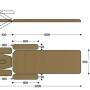 Размеры массажного стола с электроприводом F1E2