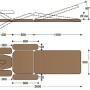 Размеры массажного стола с электроприводом F1E3