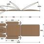 Размеры массажного стола с электроприводом F1E3K