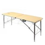 Складной массажный стол t185 бежевый