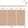 Массажный стол Титулус 3 секции XV3, размеры