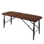 Раскладной массажный стол whn185 с тёмной обивкой