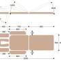 Массажный стол c электроприводом X103K, размеры